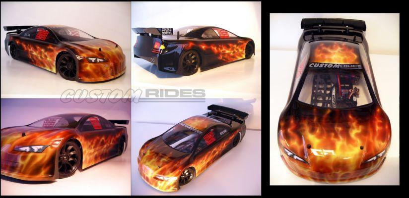 Car Flames Flaming rc Car C.s